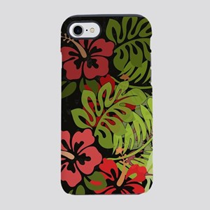 Hawaiian Flower Artwork Print iPhone 7 Tough Case